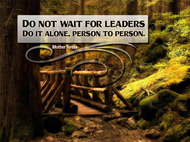 don't wait for leaders quote by Mother Teresa