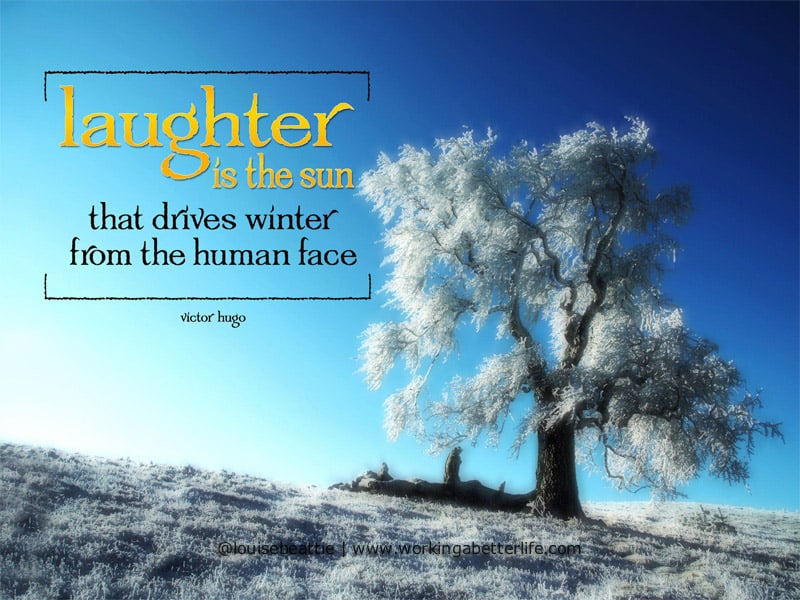 Laughter is the sun quote from Victor Hugo