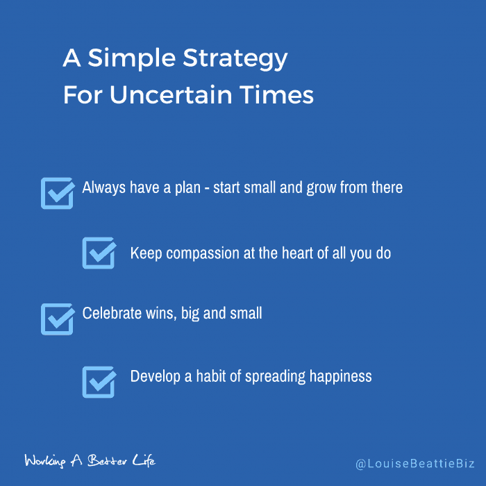 Simple strategy for uncertain times